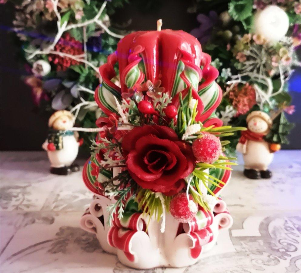 """14см с цветами """"Рождество"""""""