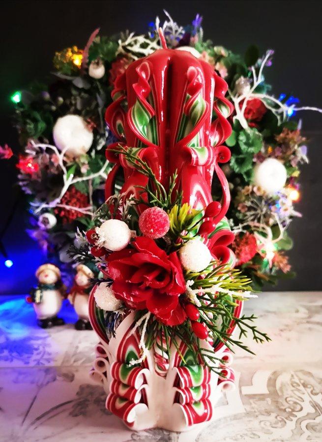 """22см с цветами """"Рождество"""""""