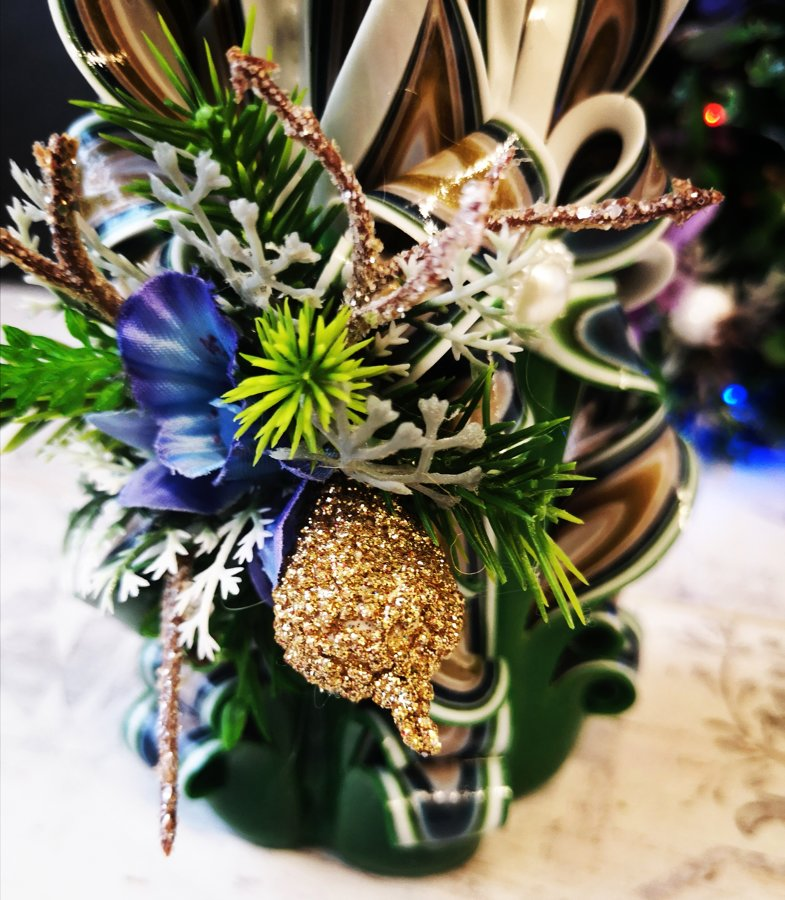 """17cm """"Новый год"""" с цветами"""