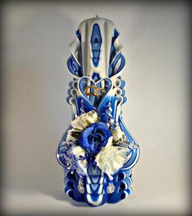 """""""Синяя"""" 22см с цветами"""
