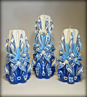 Комплект в сине голубом цвете.